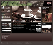 Webdesign for coffee shop