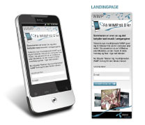Mobile landingpage for telenor - 2011